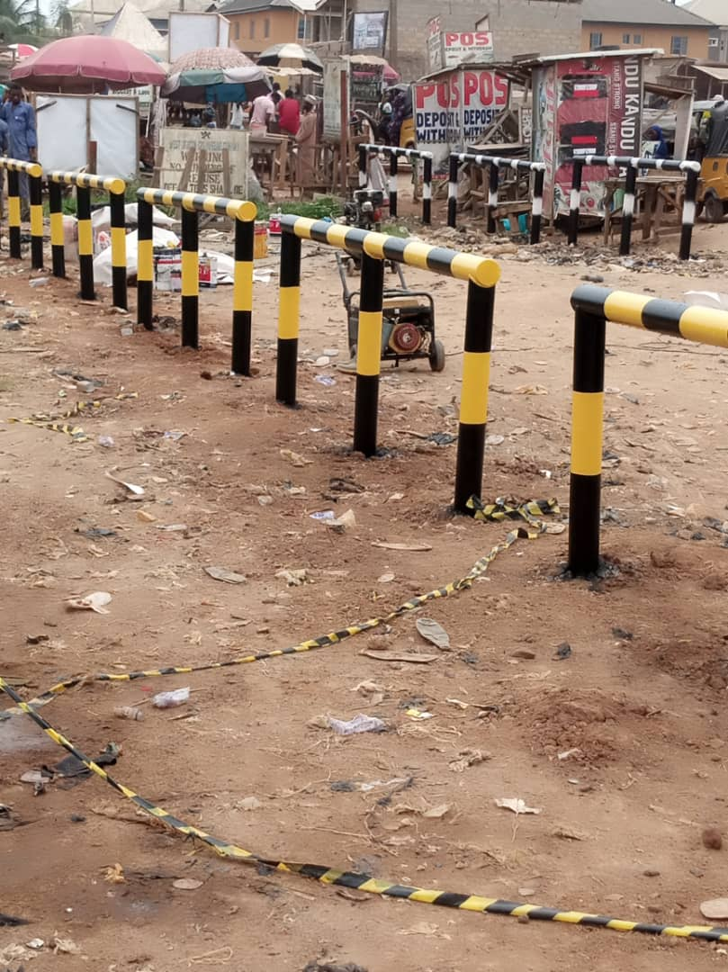 Dhaxle FABRICATION-INSTALLATION - BLASTING AND PAINTING OF PIPELINE ENCROACHMENT BARRICADES