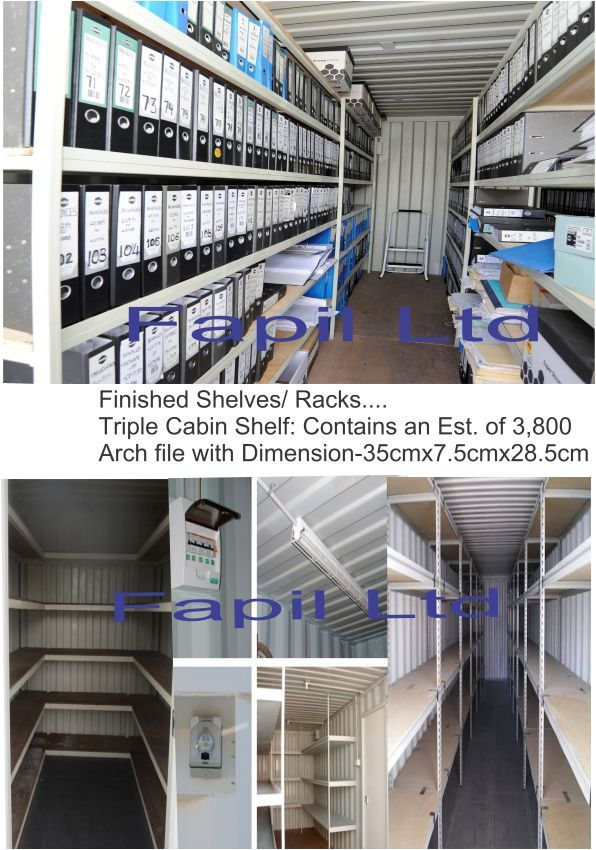 Dhaxle Prefabrication of a 20FT Container for Archiving and Storage of Official documents inArch Files