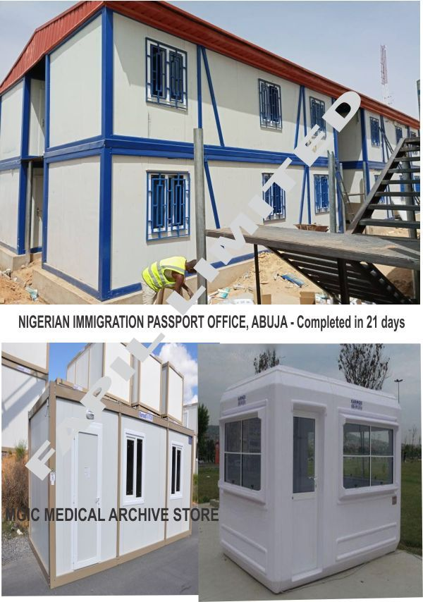 Dhaxle Prefabrication of a 40FT Container as extension Office Space for Immigration
