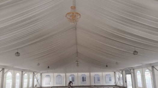 Dhaxle TBL event Centre – Roofing & Floor Tiling