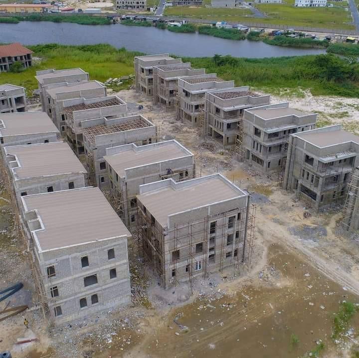 Dhaxle Block of flats in an estate, Aja, Lagos